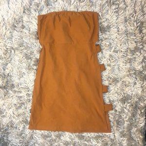 Split side bandeau dress